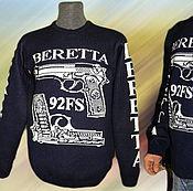 Одежда ручной работы. Ярмарка Мастеров - ручная работа Тату-свитер -  Беретта (Beretta). Handmade.