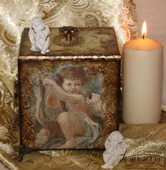 """Корзины, коробы ручной работы. Ярмарка Мастеров - ручная работа. Купить Короб для хранения """"Мой ангел"""". Handmade. Комбинированный"""