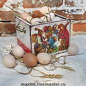 Подарки к праздникам ручной работы. Ярмарка Мастеров - ручная работа пасхальный короб. Handmade.