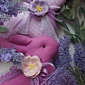Куклы и игрушки ручной работы. Ярмарка Мастеров - ручная работа Кролики в стиле тильда с лавандой. Handmade.