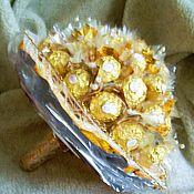 """Цветы и флористика ручной работы. Ярмарка Мастеров - ручная работа Букет конфет """"Золотое благородство"""". Handmade."""