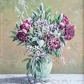 Картины ручной работы. Ярмарка Мастеров - ручная работа Цветы. Handmade.