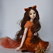 Шарнирная кукла ручной работы. Ярмарка Мастеров - ручная работа Шарнирная кукла Алиса лисичка. Handmade.