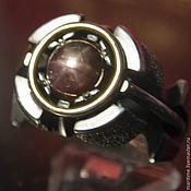 Украшения ручной работы. Ярмарка Мастеров - ручная работа Мужское кольцо со звездчатым сапфиром «Арго». Handmade.