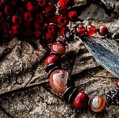 Украшения ручной работы. Ярмарка Мастеров - ручная работа Калина красная  - браслет. Handmade.