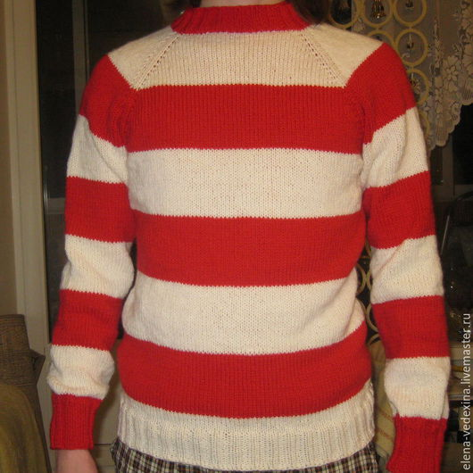 Кофты и свитера ручной работы. Ярмарка Мастеров - ручная работа. Купить Свитер полосатый. Handmade. Комбинированный, вязаный свитер, спартак