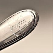 """Spoons handmade. Livemaster - original item Чайная ложка ВИНТАЖ с гравировкой инициалов """"ВБ"""" на рукоятке. Handmade."""