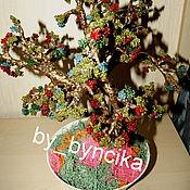 Цветы и флористика ручной работы. Ярмарка Мастеров - ручная работа Осеннее дерево из бисера. Handmade.
