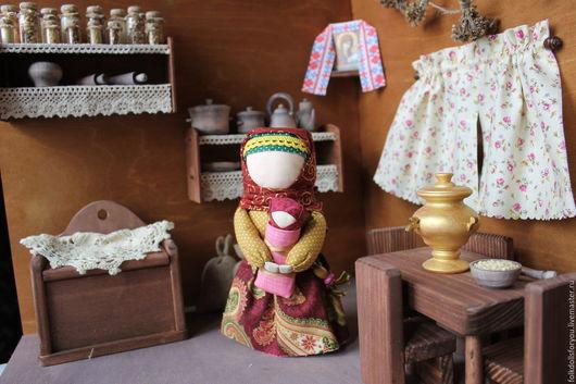Народные куклы ручной работы. Ярмарка Мастеров - ручная работа. Купить Кукла Мамушка. Handmade. Бордовый, столбушка, интерьерная игрушка