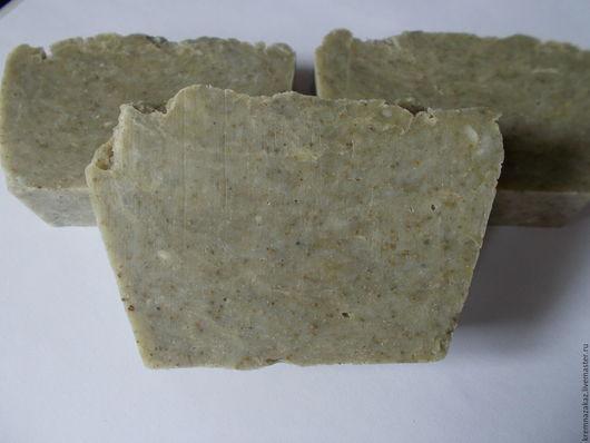 Мыло ручной работы. Ярмарка Мастеров - ручная работа. Купить Натуральное мыло с нуля с зеленой глиной и пчелиным воском. Handmade.