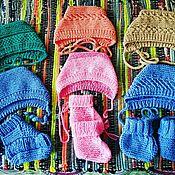 Шапки ручной работы. Ярмарка Мастеров - ручная работа Шапочки для новорожденных. Handmade.