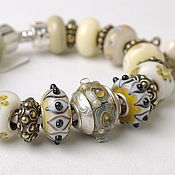 Bead bracelet handmade. Livemaster - original item Bracelet and earrings Athens. Handmade.