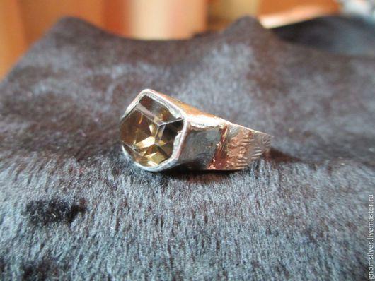 Кольца ручной работы. Ярмарка Мастеров - ручная работа. Купить Уникальное авторское кольцо с раухтопазом из Индии. Handmade. Коричневый