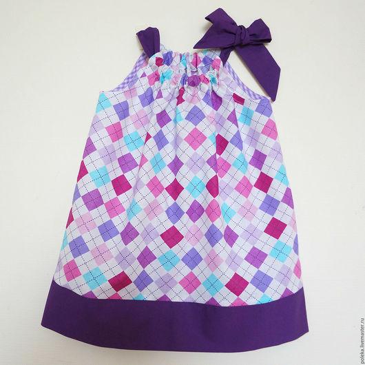 """Одежда для девочек, ручной работы. Ярмарка Мастеров - ручная работа. Купить Сарафанчик для девочки летний """"Ромбы"""". Handmade. Разноцветный"""