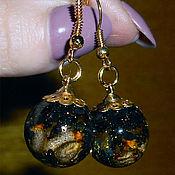 Украшения handmade. Livemaster - original item Earrings Golden Night. Handmade.