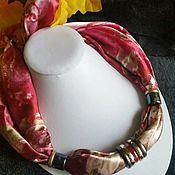 Украшения ручной работы. Ярмарка Мастеров - ручная работа Колье-платок со съёмной фурнитурой. Handmade.