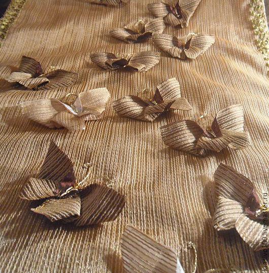 Текстиль, ковры ручной работы. Ярмарка Мастеров - ручная работа. Купить Декоративное покрывало ручная вышивка Бабочки. Handmade.