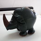"""Для дома и интерьера ручной работы. Ярмарка Мастеров - ручная работа Интерьерная игрушка """"Носорог"""". Handmade."""