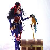 Куклы и игрушки ручной работы. Ярмарка Мастеров - ручная работа Кукла Ведьма -пиратка. Handmade.