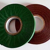Материалы для творчества handmade. Livemaster - original item Tape ribbon floral 12 mm, green,brown 45 m. Handmade.