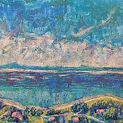 Картины и панно handmade. Livemaster - original item Painting The Sea. Calm and serenity. Handmade.