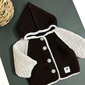 Одежда детская handmade. Livemaster - original item Jacket: knitted children`s jacket with a hood. Handmade.