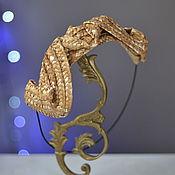 Аксессуары ручной работы. Ярмарка Мастеров - ручная работа соломенная шляпка накладка. Handmade.