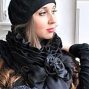 Черный шарф и берет Маргарита