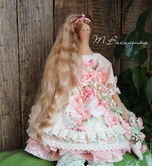Куклы Тильды ручной работы. Ярмарка Мастеров - ручная работа. Купить Кукла в стиле Тильда Розочка. Handmade. Бежевый, оборки