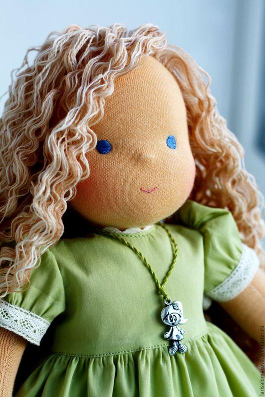 """Вальдорфская игрушка ручной работы. Ярмарка Мастеров - ручная работа. Купить вальдорфская кукла """"Каролина"""" - 36см. Handmade. Вальдорфская кукла"""