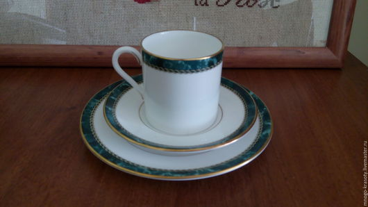 """Винтажная посуда. Ярмарка Мастеров - ручная работа. Купить трио Royal Worcester """"Медичи"""". Handmade. Костяной фарфор, кофейное трио"""