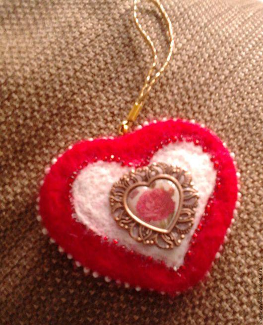 """Подвески ручной работы. Ярмарка Мастеров - ручная работа. Купить Интерьерная подвеска """"Сердце"""". Handmade. Ярко-красный"""