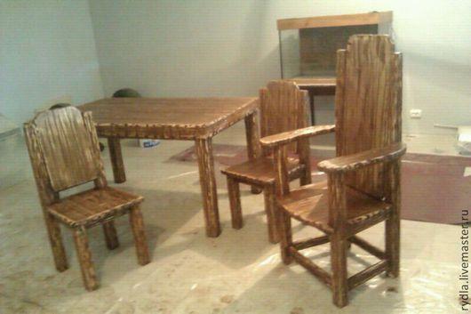 Мебель ручной работы. Ярмарка Мастеров - ручная работа. Купить Обеденная группа. Handmade. Стол, обеденная группа