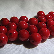 Материалы для творчества handmade. Livemaster - original item Bead natural coral 8 mm ball, smooth. Handmade.