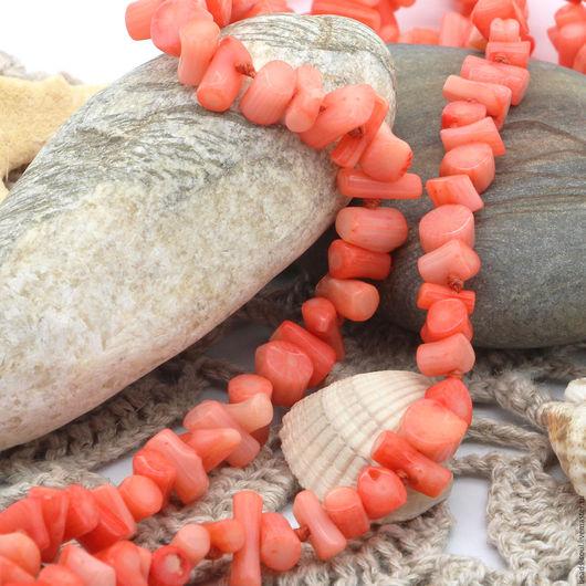 Для украшений ручной работы. Ярмарка Мастеров - ручная работа. Купить Распродажа! Коралл лососевый бусины (столбик,палочка) - арт.7-08. Handmade.