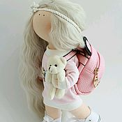 Тыквоголовка ручной работы. Ярмарка Мастеров - ручная работа Кукла текстильная интерьерная. Handmade.