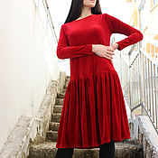 "Одежда handmade. Livemaster - original item Dress ""Velvet Touch"" D0040. Handmade."