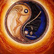 Картины ручной работы. Ярмарка Мастеров - ручная работа Авторская объемная картина-часы Инь и Янь. Handmade.