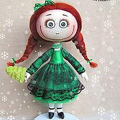 Куклы и игрушки ручной работы. Ярмарка Мастеров - ручная работа Кукла Ёлка ). Handmade.