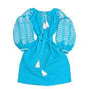 """Одежда handmade. Livemaster - original item Платье-вышиванка """"Лазурный водоворот"""". Handmade."""