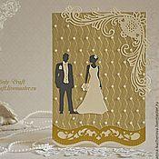 """Свадебный салон ручной работы. Ярмарка Мастеров - ручная работа Приглашение на свадьбу """"Он и Она"""". Handmade."""