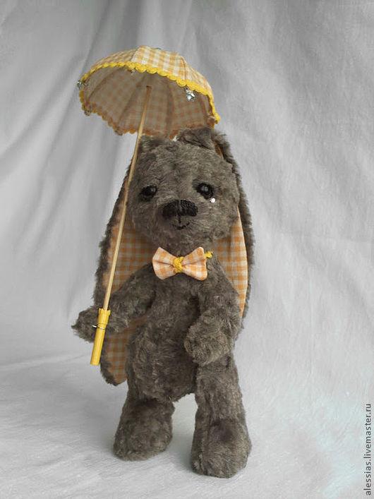 Мишки Тедди ручной работы. Ярмарка Мастеров - ручная работа. Купить плюшевый зайка  - ГрустьНяшка.. Handmade. Серый, игрушка заяц