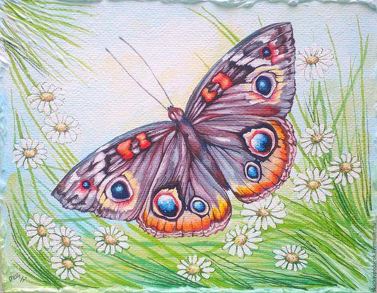"""Пейзаж ручной работы. Ярмарка Мастеров - ручная работа. Купить картина """"Бабочка 2"""". Handmade. Картина для интерьера, купить подарок"""