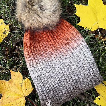 Accessories handmade. Livemaster - original item Hat with pompom Halloween (English knit). Handmade.