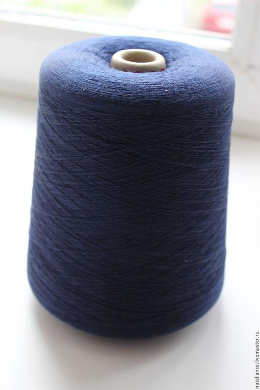 Вязание ручной работы. Ярмарка Мастеров - ручная работа. Купить Шелк Hasegawa. Handmade. Тёмно-синий, натуральный шелк, пряжа