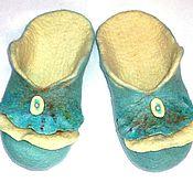"""Обувь ручной работы. Ярмарка Мастеров - ручная работа Тапочки """"Снегурочка"""". Handmade."""