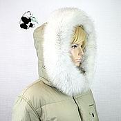 handmade. Livemaster - original item The edge of the hood fur white Fox volevogo.. Handmade.