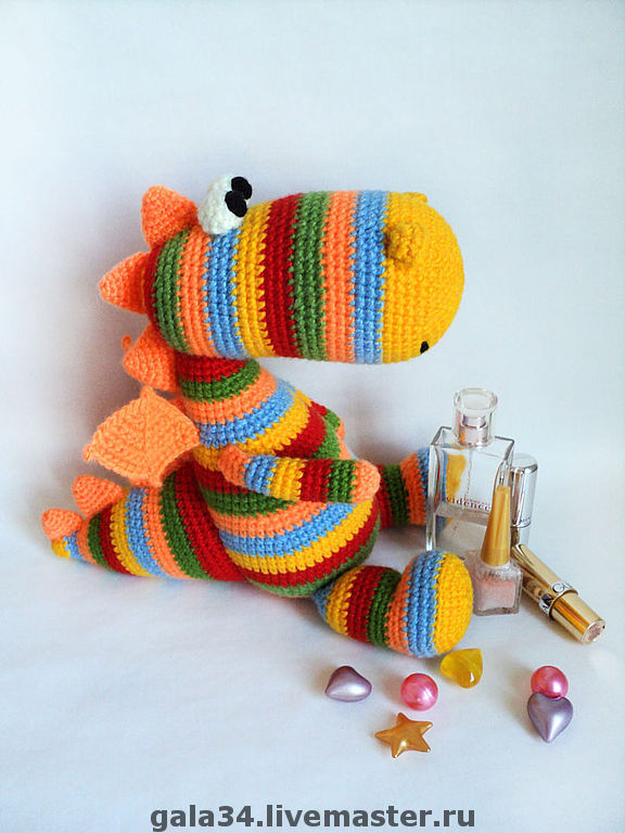 Dragon Rainbow Pinstripes, Stuffed Toys, Volgograd,  Фото №1