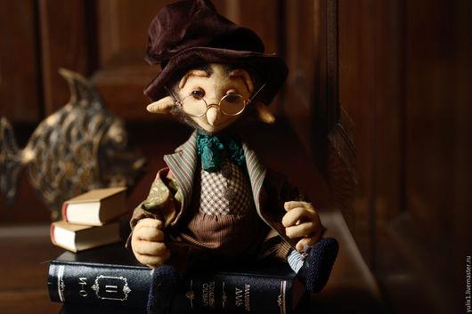 Коллекционные куклы ручной работы. Ярмарка Мастеров - ручная работа. Купить Шульц- маленький гном. Handmade. Комбинированный, авторская работа