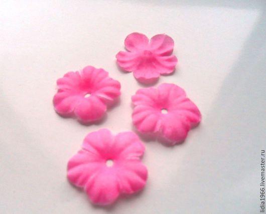 Аппликации, вставки, отделка ручной работы. Ярмарка Мастеров - ручная работа. Купить Вырубной лист цветка из ткани розовый. Handmade.